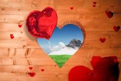 Image composée de modèle de coeur d'amour Image libre de droits