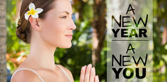 Image composée de nouvelle année nouvelle vous images stock