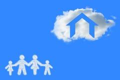 Image composée de nuage dans la forme de la famille Photo stock