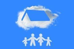 Image composée de nuage dans la forme de la famille Image libre de droits