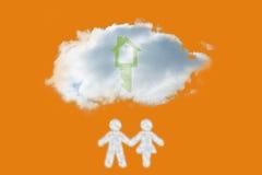 Image composée de nuage dans la forme des couples Photographie stock