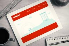 Image composée de page d'accueil Image stock