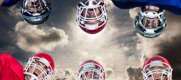 Image composée de petit groupe de football américain Photo stock