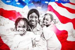 Image composée de plan rapproché de drapeau américain froissé photo libre de droits