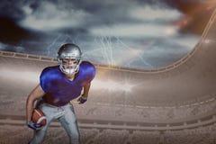 Image composée de portrait de joueur de football américain dans jouer uniforme Photos stock
