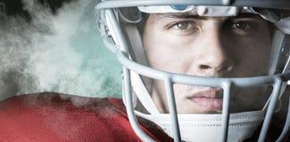 Image composée de portrait en gros plan de sportif sûr Photographie stock libre de droits