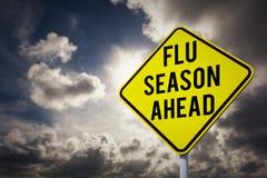 Image composée de saison de la grippe en avant illustration de vecteur