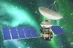 Image composée de satellite actionnésolaire de l'of3d d'image Photo libre de droits