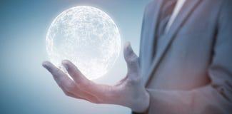 Image composée de section médiane de l'homme d'affaires élégant 3d Photos libres de droits