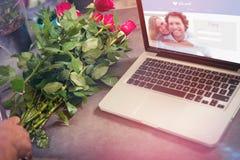 Image composée de site Web de datation Photographie stock libre de droits