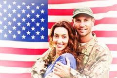 Image composée de soldat réunie à l'associé Photographie stock libre de droits