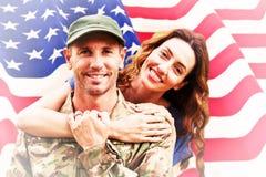 Image composée de soldat réunie à l'associé Photos libres de droits