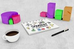 Image composée de stratégie et de griffonnage de développement Photo stock