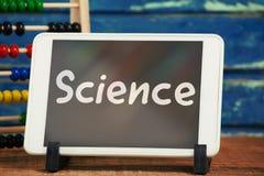 Image composée de texte de la science sur le fond blanc Photographie stock libre de droits