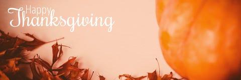 Image composée de texte de salutation de thanksgiving Image libre de droits