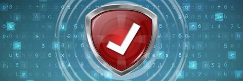 Image composée de validation rouge de symbole Photographie stock libre de droits