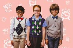 Image composée des élèves mignons Photographie stock libre de droits