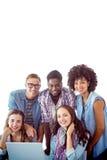 Image composée des étudiants de mode travaillant en équipe Photos stock