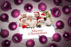 Image composée des babioles de Noël sur la table photos libres de droits