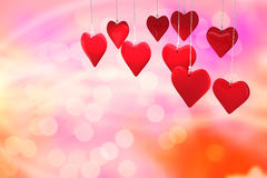 Image composée des coeurs 3d d'amour Image libre de droits