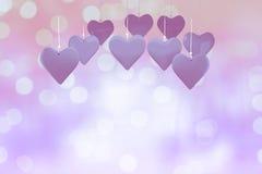 Image composée des coeurs 3d d'amour Images stock