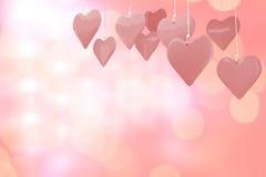 Image composée des coeurs 3d d'amour Photos libres de droits