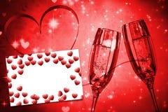 Image composée des coeurs rouges d'amour Photo stock