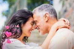 Image composée des coeurs supérieurs 3d de couples et de valentines Photo libre de droits
