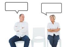 Image composée des couples de renversement ne parlant pas entre eux après combat illustration libre de droits