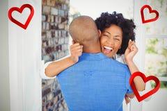 Image composée des couples et des coeurs 3d Images libres de droits