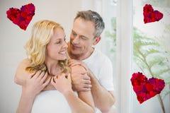 Image composée des couples et des coeurs 3d Photos libres de droits