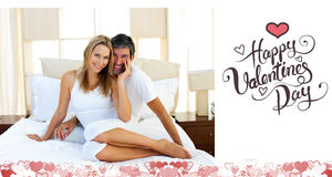 Image composée des couples mignons de valentines Image libre de droits
