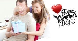 Image composée des couples mignons de valentines illustration de vecteur