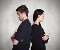 Image composée des couples ne parlant pas après argument images libres de droits