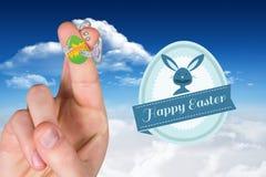 Image composée des doigts comme lapin de Pâques Image libre de droits