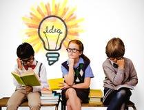 Image composée des enfants d'école Image stock
