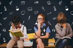 Image composée des enfants d'école Image libre de droits