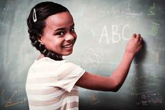 Image composée des griffonnages de maths et de science Photo libre de droits
