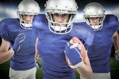 Image composée des joueurs de football américain Images stock