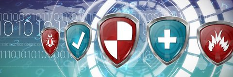 Image composée des logos numériques Images stock