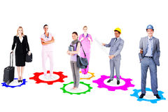 Image composée des personnes avec différentes carrières image stock