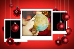 Image composée des photographies de Noël Image stock