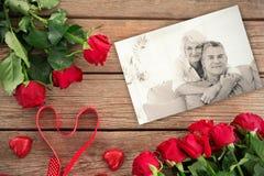 Image composée des roses rouges Images libres de droits