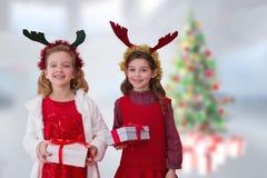 Image composée des soeurs mignonnes Image libre de droits