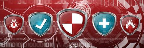 Image composée des symboles rouges et bleus Image libre de droits