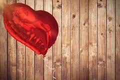 Image composée du ballon rouge 3d de coeur Images stock