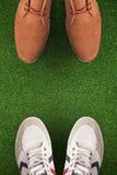 Image composée du centre des chaussures élégantes Photo stock