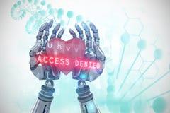 Image composée du fond 3d de virus Image libre de droits