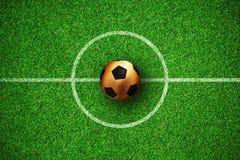 Image composée du football d'or Illustration Libre de Droits