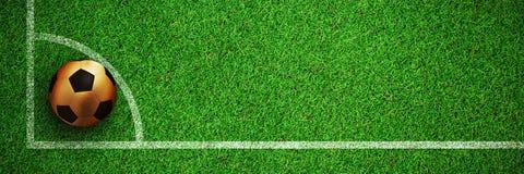 Image composée du football d'or Illustration de Vecteur